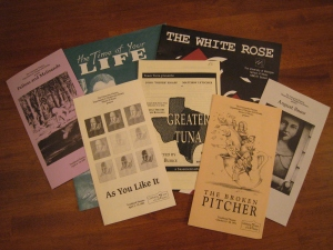 Vicki's collection of playbills from college, starring Matt Letscher (credit: Vicki B.)