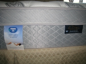 Spring Air Back Supporter Platinum Amethyst Deluxe Eurotop (credit: Vicki B.)