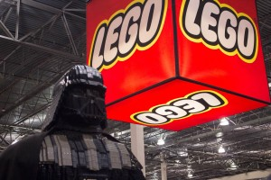 """Star Wars"" villain Darth Vader modeled with blocks at LEGO KidsFest in Novi, Mich. on April, 27 2014. (credit: George Fox/CW50)"