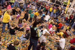 The sold out LEGO KidsFest packed the Rock Fincancial Showplace in Novi, Mich. on the weekend of April 26, 27 2014. (credit: George Fox/CW50)