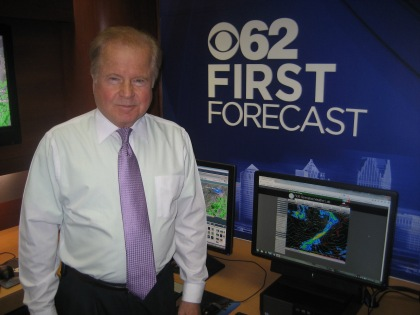 On day one of Movember with CBS 62/CW50 Detroit Chief Meteorologist Jim Madaus poses for a photo with a fresh shave. Jim is observing Movember to raise awareness for men's health. He won't shave his mustache (mo) for the entire month of November. (credit: CBS 62)