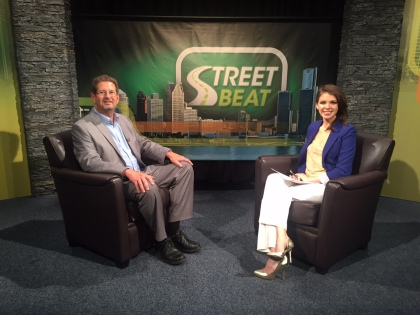"Street Beat host Karen Carter and Tim Ruggles, the CEO of Habitat For Humanity of Oakland County, discuss how ""sweat equity"" can help someone earn a home of their own. (credit: Sydney Bowden/CW50)"