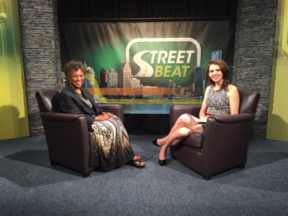 Gwen McNeal, the East Region District Manager for the Bureau of Services for Blind Persons, discusses how jobs for people with visual disabilities can be incorporated into companies with Street Beat host Karen Carter. (credit: Kenneth Bryant, Jr. /CW50)
