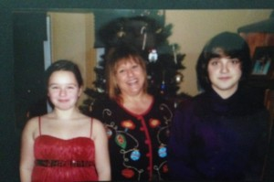 (From left to right: Amy Lilly, Sandy Lilly (Mother), Andrew Lilly)