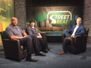 Don Reid and Jillian Conrad from Extraordinary Ventures Michigan with Street Beat host Rob Stone (credit: Mickie McLeod/CW50)