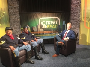 James Mills and Stathen Townsend from the Detroit Buffalo Soldiers and Street Beat host Rob Stone (credit: JuWan Graham, CW50)