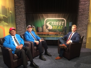 Frederick Henry (documented original Tuskegee Airman) and Lt. Col. Lawrence Millben from the Tuskegee Airmen Inc. with Street Beat host Rob Stone (credit: JuWan Graham, CW50)