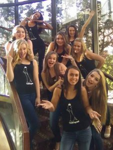 2016 TAGM Teen Contestants strike a pose on the pageant staircase in between shoots. (Photo courtesy Mickie McLeod)